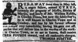 Feb 6 1770 - South-Carolina Gazette and Country Journal Supplement Slavery 1