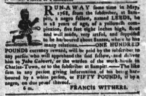 Feb 6 1770 - South-Carolina Gazette and Country Journal Supplement Slavery 3