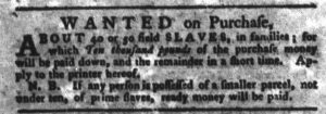 Feb 6 1770 - South-Carolina Gazette and Country Journal Supplement Slavery 5