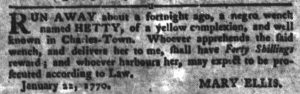Feb 6 1770 - South-Carolina Gazette and Country Journal Supplement Slavery 7