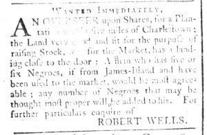 Feb 7 1770 - South-Carolina and American General Gazette Slavery 1