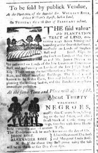Feb 7 1770 - South-Carolina and American General Gazette Slavery 10