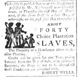 Feb 7 1770 - South-Carolina and American General Gazette Slavery 2