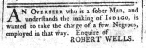 Feb 7 1770 - South-Carolina and American General Gazette Slavery 3