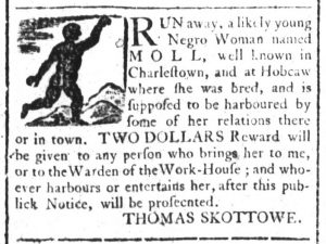 Feb 7 1770 - South-Carolina and American General Gazette Slavery 4