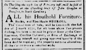 Feb 7 1770 - South-Carolina and American General Gazette Slavery 7
