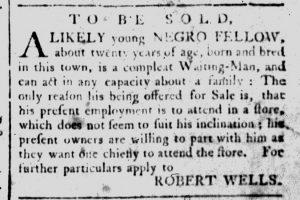 Feb 7 1770 - South-Carolina and American General Gazette Slavery 8