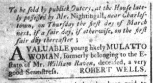 Feb 7 1770 - South-Carolina and American General Gazette Slavery 9