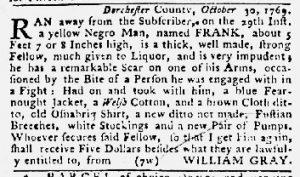 Jan 11 1770 - Maryland Gazette Slavery 4
