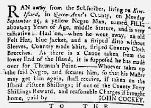 Jan 11 1770 - Maryland Gazette Slavery 5