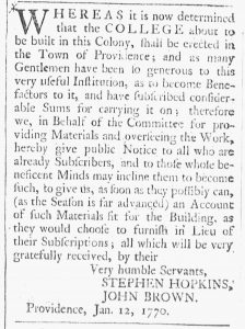 Jan 13 1770 - 1:13:1770 Providence Gazette