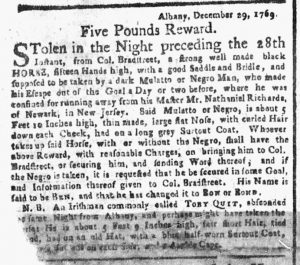 Jan 15 1770 - New-York Gazette or Weekly Post-Boy Slavery 1