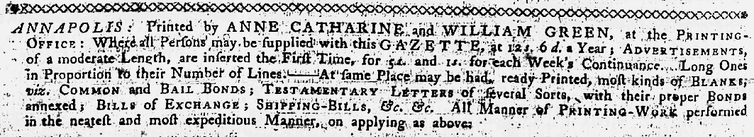 Jan 18 - 1:18:1770 Maryland Gazette