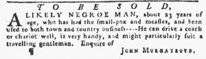 Jan 18 1770 - Pennsylvania Gazette Slavery 2