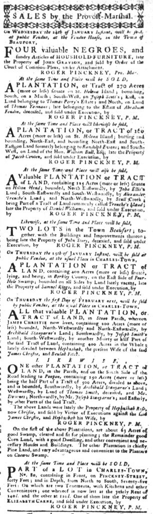 Jan 18 1770 - South-Carolina Gazette Slavery 3