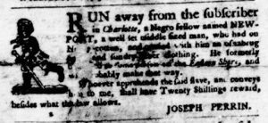 Jan 18 1770 - Virginia Gazette Purdie and Dixon Slavery 3