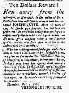 Jan 19 1770 - New-London Gazette Slavery 2