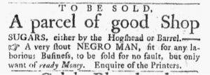 Jan 22 1770 - Massachusetts Gazette and Boston Post-Boy Slavery 2