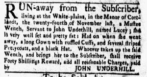 Jan 22 1770 - New-York Gazette and Weekly Mercury Slavery 4