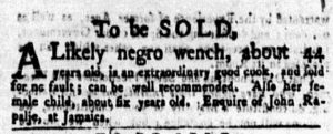 Jan 22 1770 - New-York Gazette and Weekly Mercury Slavery 6