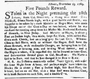 Jan 22 1770 - New-York Gazette or Weekly Post-Boy Slavery 1