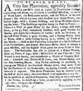 Jan 22 1770 - New-York Gazette or Weekly Post-Boy Slavery 2
