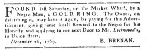 Jan 23 1770 - South-Carolina Gazette and Country Journal Slavery 2