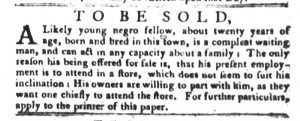 Jan 23 1770 - South-Carolina Gazette and Country Journal Slavery 6