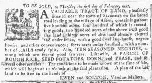 Jan 24 1770 - Georgia Gazette Slavery 1