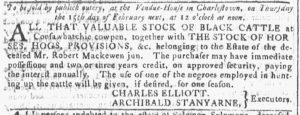 Jan 24 1770 - Georgia Gazette Slavery 7