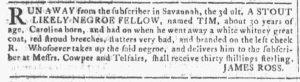 Jan 24 1770 - Georgia Gazette Slavery 8
