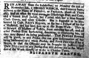Jan 25 1770 - South-Carolina Gazette Slavery 2