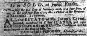 Jan 25 1770 - South-Carolina Gazette Slavery 3