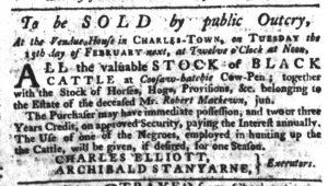 Jan 25 1770 - South-Carolina Gazette Slavery 4