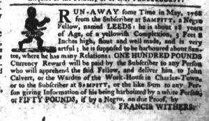 Jan 25 1770 - South-Carolina Gazette Slavery 6