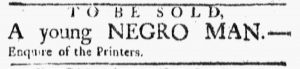 Jan 29 1770 - Boston Evening-Post Slavery 1