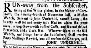 Jan 29 1770 - New-York Gazette and Weekly Mercury Slavery 2