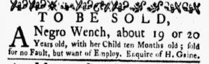 Jan 29 1770 - New-York Gazette and Weekly Mercury Slavery 3
