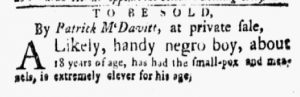 Jan 29 1770 - New-York Gazette and Weekly Mercury Slavery 5