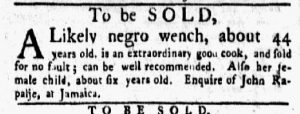 Jan 29 1770 - New-York Gazette and Weekly Mercury Slavery 7