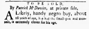 Jan 29 1770 - New-York Gazette and Weekly Mercury Slavery 9