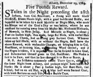 Jan 29 1770 - New-York Gazette or Weekly Post-Boy Slavery 1