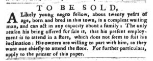 Jan 30 1770 - South-Carolina Gazette and Country Journal Slavery 12