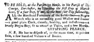 Jan 30 1770 - South-Carolina Gazette and Country Journal Slavery 4