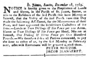 Jan 30 1770 - South-Carolina Gazette and Country Journal Slavery 7