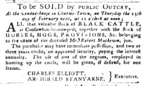Jan 30 1770 - South-Carolina Gazette and Country Journal Slavery 8