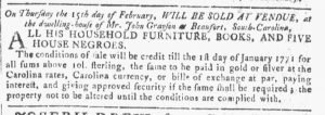 Jan 31 1770 - Georgia Gazette Slavery 7