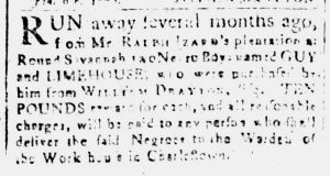 Jan 31 1770 - South-Carolina and American General Gazette Slavery 1