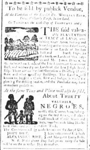 Jan 31 1770 - South-Carolina and American General Gazette Slavery 2
