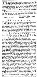 Jan 9 1770 - 1:9:1770 South-Carolina Gazette and Country Journal